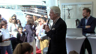 Cornette de Saint Cyr and Tim Morley at Prestige Yacht Auction organised by Morley Yachts