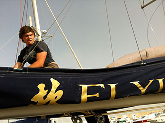 Matthew Taylor working for Morley Yachts in Tunisia